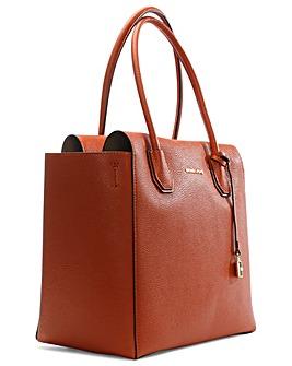 Michael Kors Orange Leather Satchel Bag
