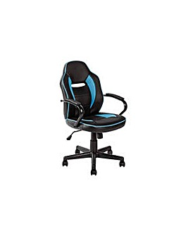 Mid Back  Gaming Chair - Blue & Black.