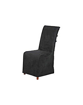 HOME Pack of 2 Chair Covers - Jet Black.