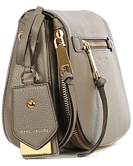 Marc Jacobs Taupe Leather Saddle Bag