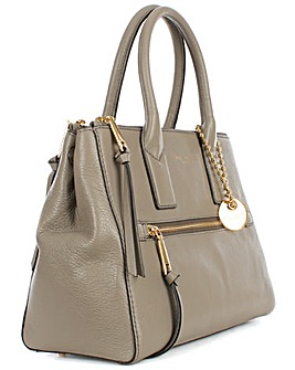 Marc Jacobs Taupe Leather Tote Bag