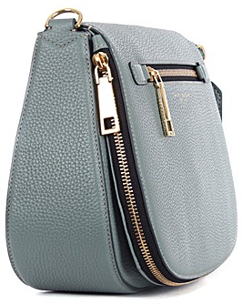 Marc Jacobs  Blue Leather Saddle Bag