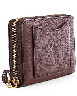 Marc Jacobs Leather Zip Around Wallet