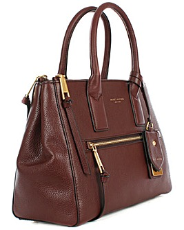 Marc Jacobs Burgundy Leather Tote Bag