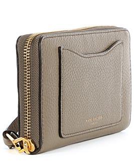 Marc Jacobs Taupe Zip Around Wallet