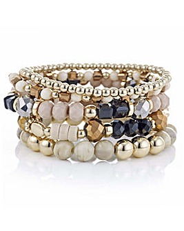 Mood multi bead stretch bracelet pack