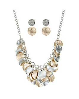 Mood Textured Disc Jewellery Set