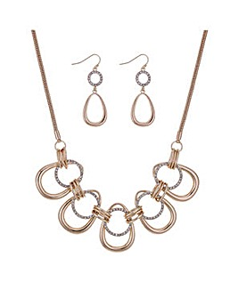 Mood pave loop jewellery set