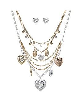 Mood multi row charm jewellery set
