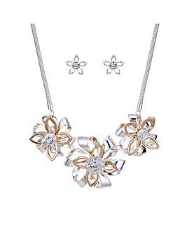 Mood crystal floral jewellery set