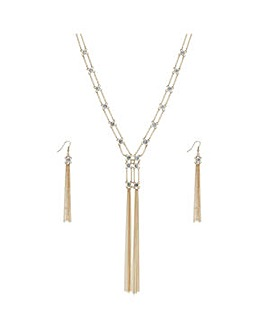 Mood lariat tassel jewellery set