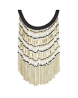 Mood tonal bead and tassel necklace