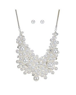 Mood crystal cluster jewellery set