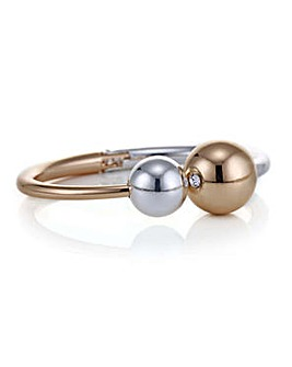 Mood two tone ball bangle
