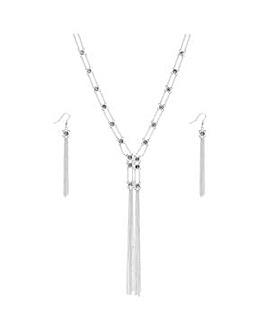 Mood lariat tassel jewellery set