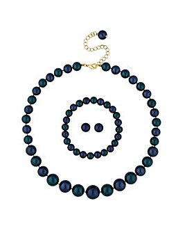 Mood green pearl jewellery set