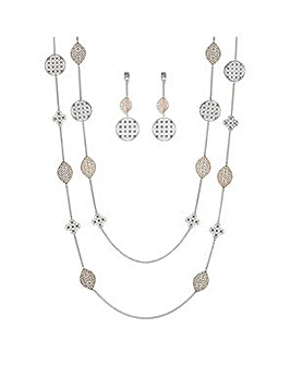 Mood two tone cut out jewellery set