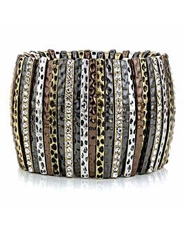 Mood pave stick stretch bracelet