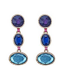 Mood crystal shapes earring
