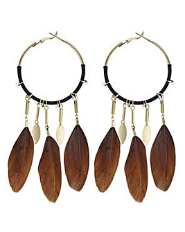 Mood feather charm earring