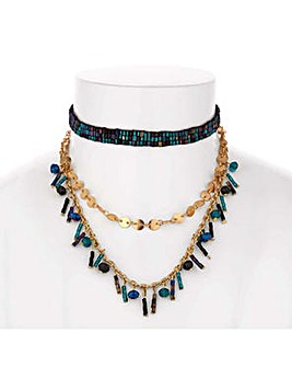 Mood beaded choker necklace