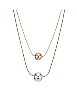 Mood multi tone ball necklace