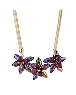 Mood beaded crystal flower necklace
