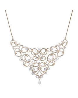 Mood crystal cut out necklace