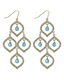 Mood crystal droplet open earring