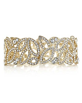 Mood crystal cut out navette bracelet