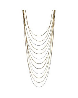 Mood multi row slinky necklace