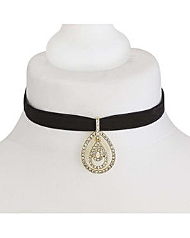 Mood teardrop choker necklace