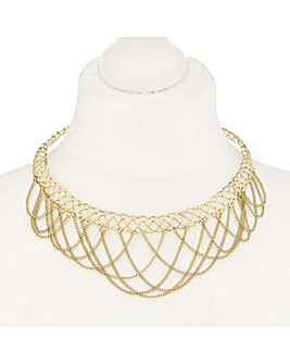 Mood looped chain choker necklace