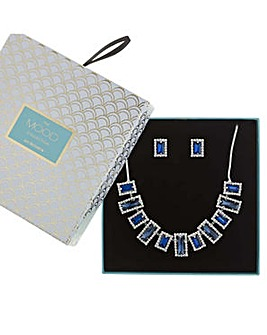 Mood crystal fan jewellery set