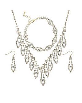 Mood crystal diamante jewellery set