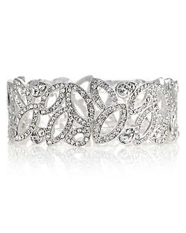 Mood crystal cut out navette bracelet