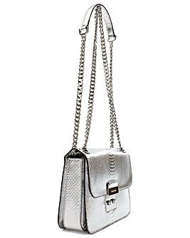 Michael Kors Silver Reptile Shoulder Bag