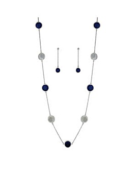 Mood blue disc jewellery set
