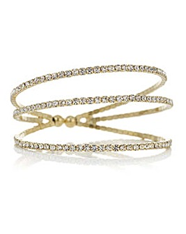 Mood crystal diamante cuff bracelet