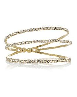 Mood crystal diamante cuff bracelet