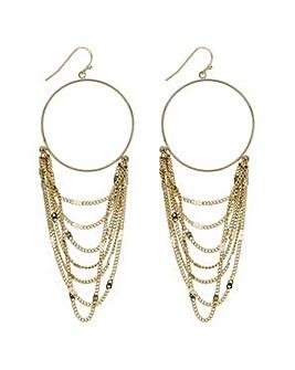 Mood layered chain hoop earring
