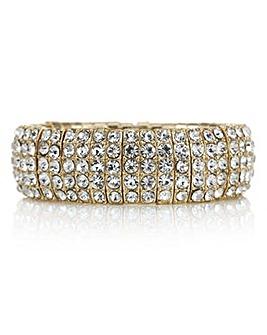 Mood crystal segment stretch bracelet