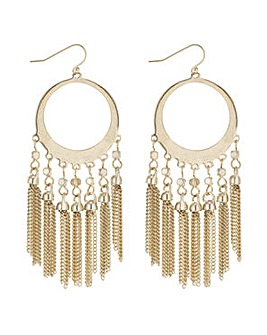 Mood open circle fringe hoop earring