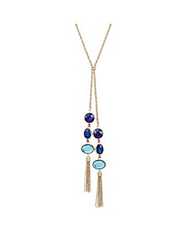 Mood multi tone lariat necklace
