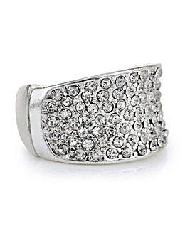 Mood crystal pave square ring