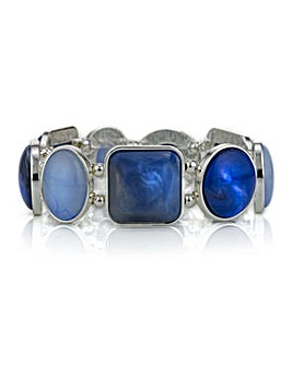 Mood blue tonal mixed shape bracelet