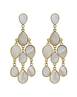 Mood cream shell peardrop earring