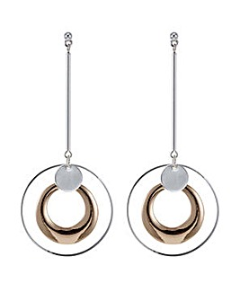 Mood multi tone circle stick earring