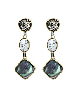 Mood gold mixed stone earring