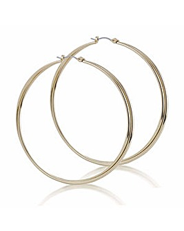 Mood double twist large hoop earring